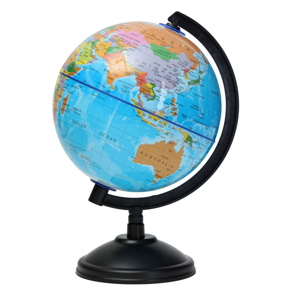 14cm plastic montessori mini world globe atlas map gift decoration with swivel stand geography. Black Bedroom Furniture Sets. Home Design Ideas