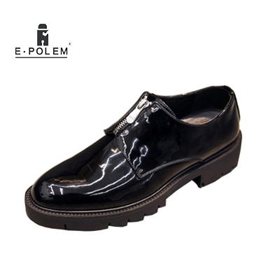 Pointu Chevelu De Black Lumineux Été Augmenté Noir Cuir Glissière Casual Chaussures Et En Hommes Britannique Verni Printemps agIYvv