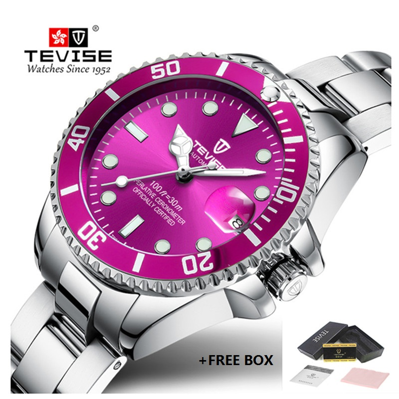 TEVISE Brand Women Watches Waterproof Stainless Steel Luxury Ladies Watch Girl Quartz Wristwatch Clock Montre Relogio Feminino new brand rose gold women watch steel luxury ladies watch creative girl quartz wristwatch clock montre relogio feminino 2018