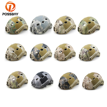 POSSBAY Motor Outdoor Sport Tactical Military Helmet Covers Camouflage Cover for Airsoft Paintball Shooting Helmet Accessory