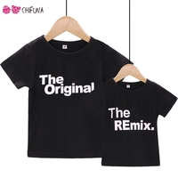 chifuna Letter Pattern   Family     Matching     Outfits   Kids Clothes Dad Son Clothes   Family   Short Sleeve T-Shirts Casual   Family   Look