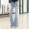 Fashion Female High Waist Bell Bottom Jeans Womens Boot Cut denim pants vintage wide leg flare jeans