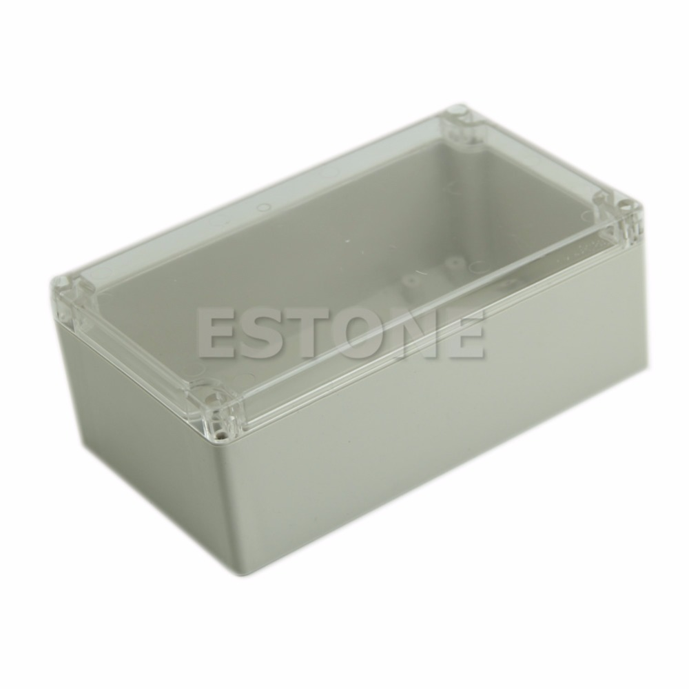 Waterproof Plastic Electronic Project Box Clear Cover Enclosure CASE200x120x75mm - L057 New hot 200x120x75mm waterproof clear plastic electronic project box enclosure case l057 new hot