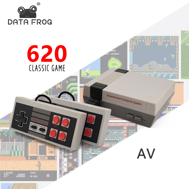 DATA FROG Mini TV Game Console 8 Bit Retro Video Game Console Built-In 620  Games Handheld Gaming Player Best Gift
