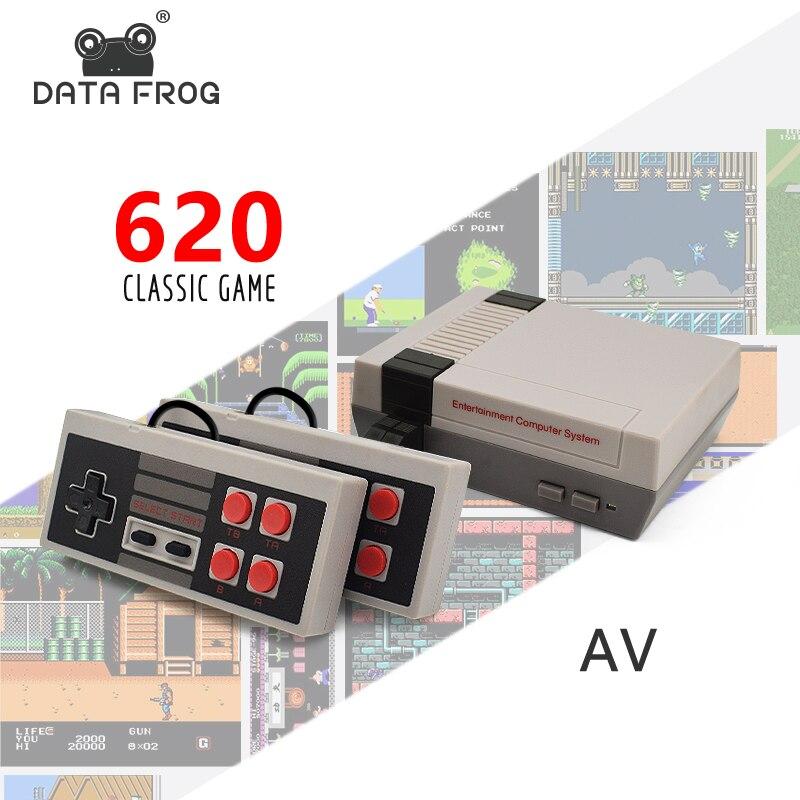 Datos perdón Mini TV consola de juego de 8 bits Retro juego de Video consola incorporada de 620 juegos de juego portátil jugador mejor regalo