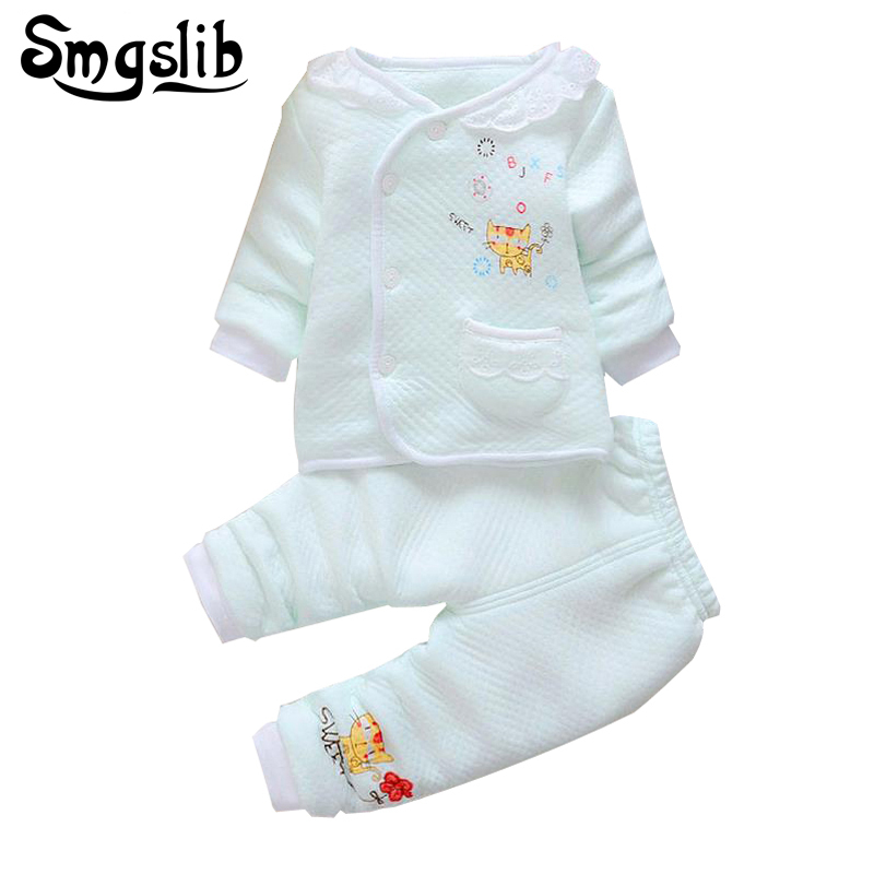 Newborn clothes 2Pcs/Set Outfit Cotton Tracksuit Set Baby Girl Clothes Cartoon Long Sleeve T Shirt +Pant baby boys clothes set