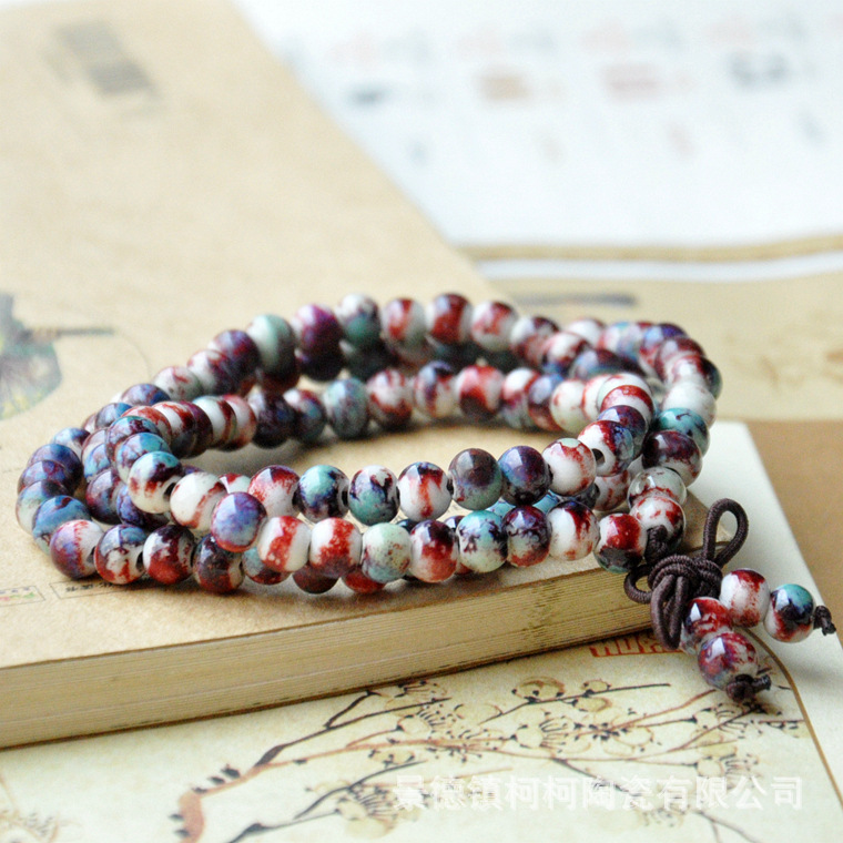 Bracelets & Bangles Original New Fashion Chinese Style 108 Pieces Of Beads Hand Chain Ethnic Style Three Circles Beads Bracelet For Men And Women Various Styles