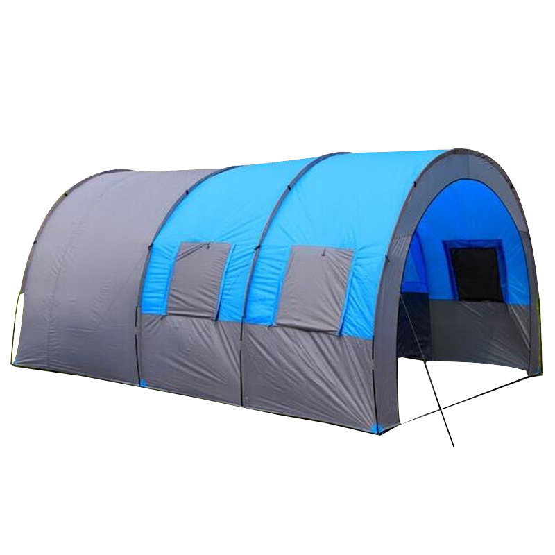 High Quality 8-10 Person Luxury Camping Tents Outdoor Big Family Party 3 Room Double Layer Picnic Large Awnings Waterproof Tente high quality outdoor 2 person camping tent double layer aluminum rod ultralight tent with snow skirt oneroad windsnow 2 plus