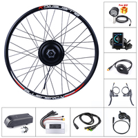 New Electric Bicycle Rear Hub Motor Conversion Kit 48V 500W Ebike 20'' 26'' 27.5'' 700c Wheel With Display For Bafang