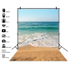 Laeacco Tropical Sea Waves Beach Sand Summer Holiday Natual Scene Photographic Background Photography Backdrops For Photo Studio