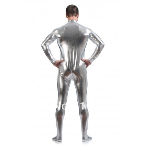 free-shipping-silver-shiny-metallic-zentai-Catsuit-for-Men-leotard-front-open-halloween-performance-zentai-costume (3)