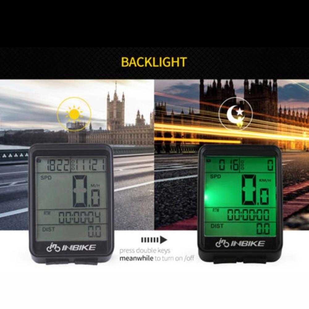 Wireless Cycling Bike Computer Bicycle Waterproof LED Speedometer Odometer US