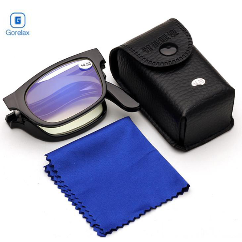 Vision Glasses Magnifier Magnifying Eyewear Reading Glasses Portable Gift For Parents Presbyopic Magnification 100-400 Degree