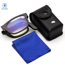 Vision Glasses Magnifier Magnifying Eyewear Reading Glasses Portable Gift For Parents Presbyopic Magnification 100-400 Degree sys0072 1 5 diopter reading presbyopic glasses leopard black