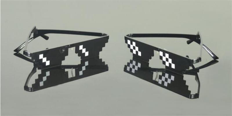 HTB19e31aeEJL1JjSZFGq6y6OXXaD - 2018 New Deal with it Glasses Thug Life Glasses Pixel Women Men Sunglasses Black Mosaic Sun Glasses