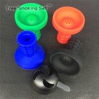 1pc Multi-hole Silicone + Metal smoke pot Bowl for Shisha Hookah Water Smoking Pipe Charcoal Stove Burner hookah charcoal holder