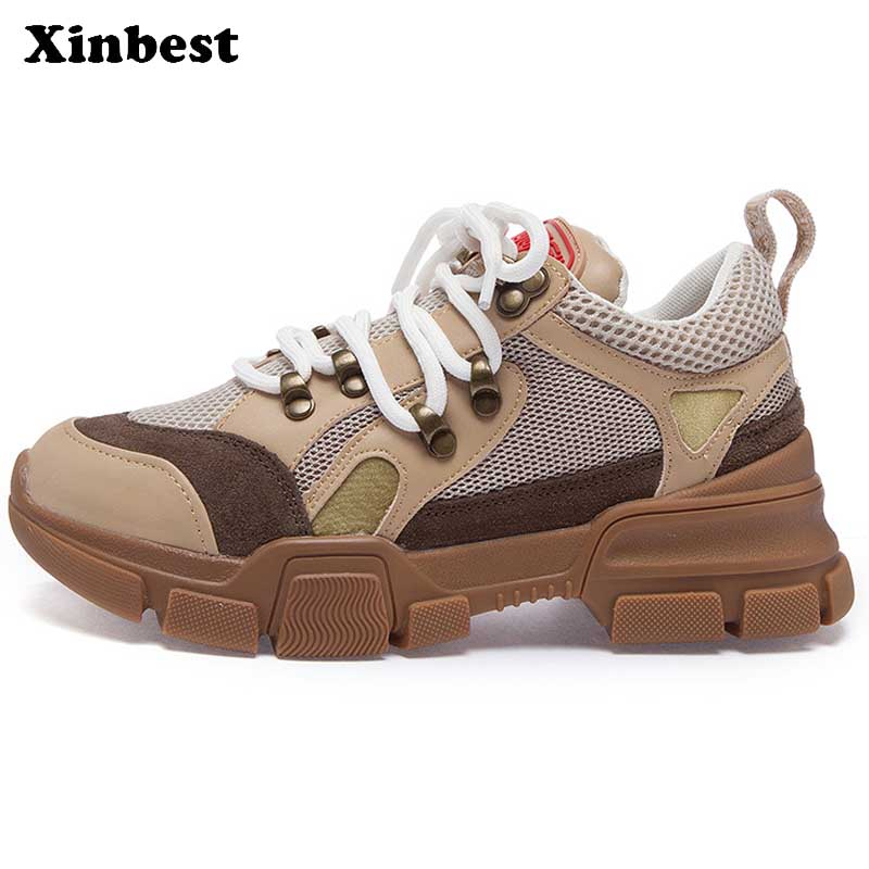 Xinbest Woman Brand Outdoor Athletic Breathable Women Running Shoes Antiskid Fly line Fabric Outdoor Jogging Womens Sneakers