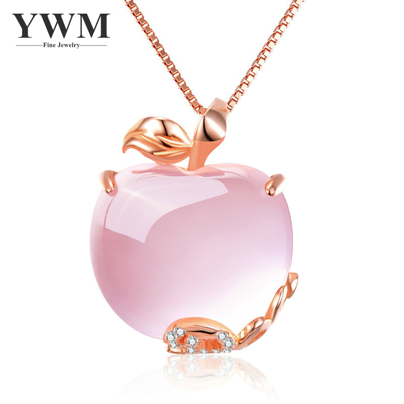 YWM Pink Apple Pendant 925 ստերլինգ արծաթե - Նուրբ զարդեր - Լուսանկար 1