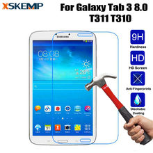 "Crystal Clear HD LCD Screen Protector Cover Film For Samsung Galaxy Tab 3 8.0"" SM-T310 T311 Tablet 9H Tempered Glass Protective(China)"