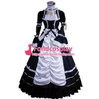 Готическая Лолита панк средневековое платье длинное вечернее платье куртка на заказ [CK1427]
