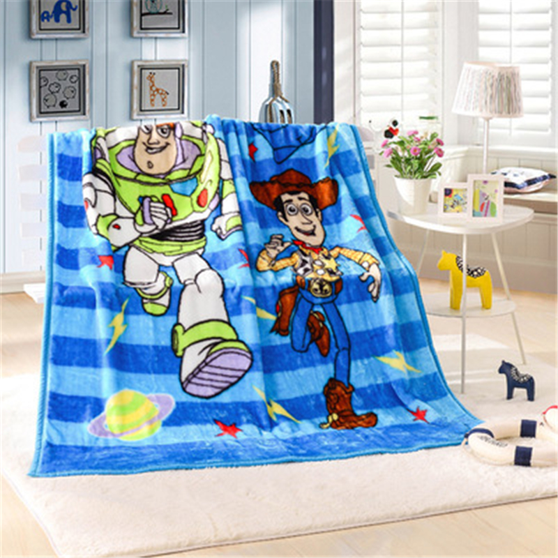 Us 23 77 18 Off Disney Buzz Lightyear Raschel Blanket Toy Story Traveling Woody Throw On Sofa Bedcomfortable Plane Rug Manta 140x200cm In