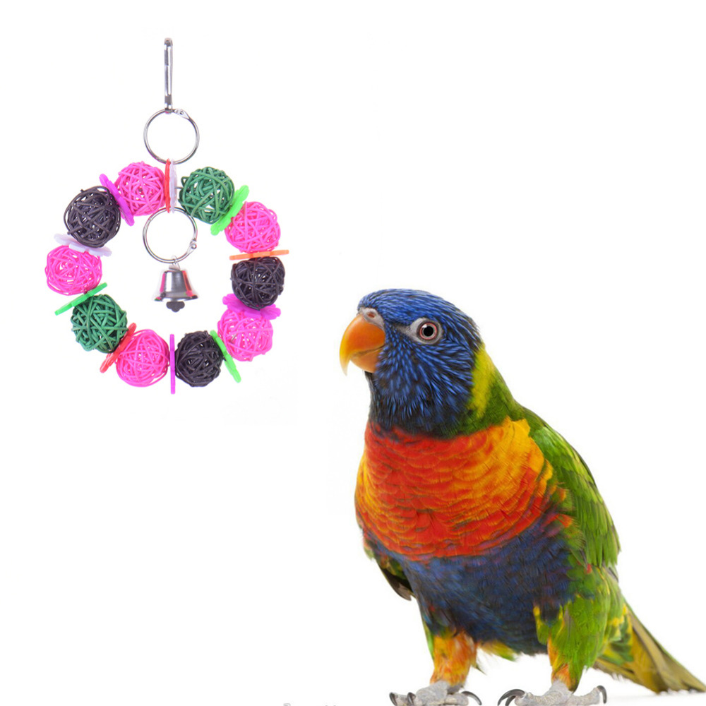 Bird Toys For Birds : Natural towel gourd bird toys colorful handmade pets