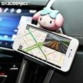 Sa71 universal car air vent holder teléfono de la historieta para iphone 5 5S 6 6 s plus se samsung smartphone soporte para montaje de accesorios