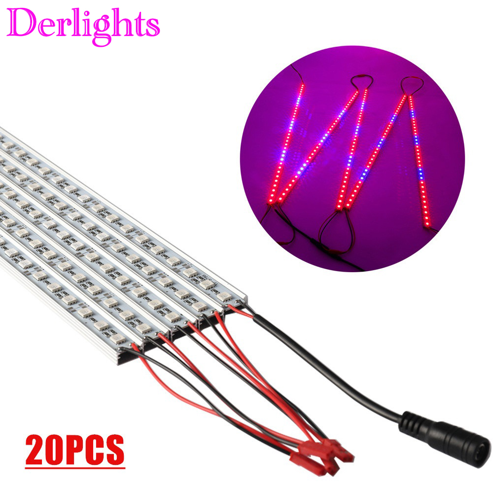 20pcs LED Grow Light Bar 10W DC12V SMD5050 LED Strip Plant Light For Indoor Greenhouse Flowering Plant And Hydroponics System