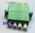 20 unids LC-Quad-con Brida-Verde/Adaptador De Fibra Óptica