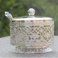جديد وصول لامعة الشظية مطلي القهوة/suar/الشاي الجرار مع ملعقة المائدة المنزل أو المعدن glazen bokaal TWG001