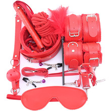 Toys for Adults Bdsm Bondage Set Sex Handcuffs Footcuff bdsm Women Whip Rope Blindfold Couples Erotic