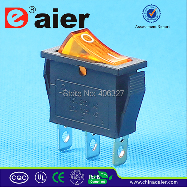 KCD3 102N KCD3 ON OFF Rocker Switch SPST 3PIN ON OFF 220V ...