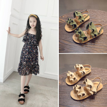 Baby Girls Shoes Beach Wave Shoes 2019 New Roman sandals girl School Sandals Single Princess Roman Shoes Shoes For Children цены