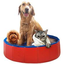 Pet products Large PVC Foldable Swimming Pool For Big Dog Bathtub Cat Kitten Teddy Bed Kennel
