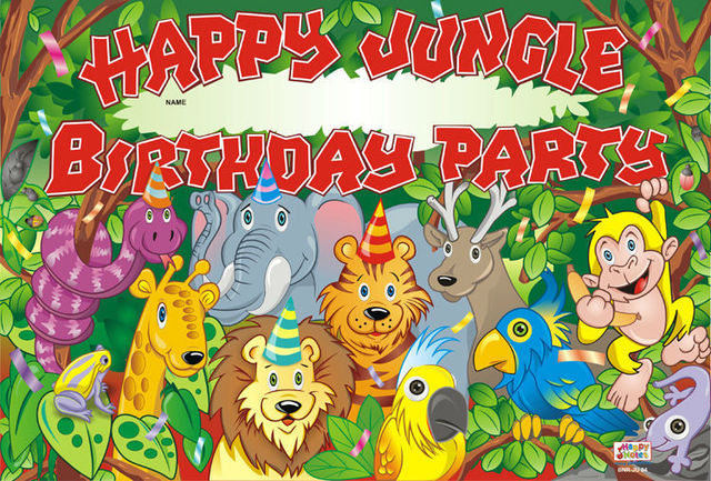 30 Pcs Jungle Party Birthday Poster Wallpaper Decorated Birthday