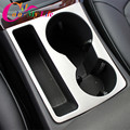 1 Piece Stainless Steel Car Water Cup Holder Frame Decal Cover Trim Sticker for Audi A4 B8 2009 - 2016 A5 Interior Molding