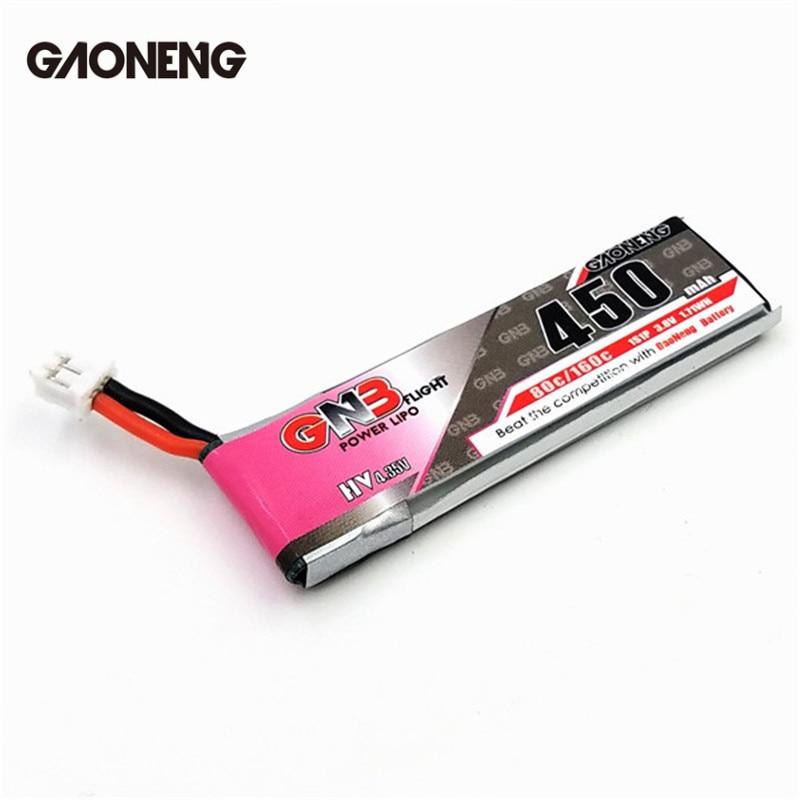 3/5/10 PCS GAONENG GNB 4.35 V 450 mAh 1 S 80C HV Batterie PH2.0 Plug Blanc Plug Connecteur Pour E010 M80S Tiny7 RC modèles