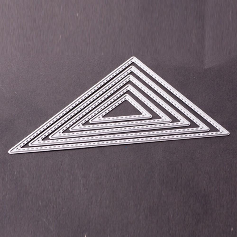 5 Stücke Dreieck Rahmen Metall Stanzformen Herzen Scrapbooking ...