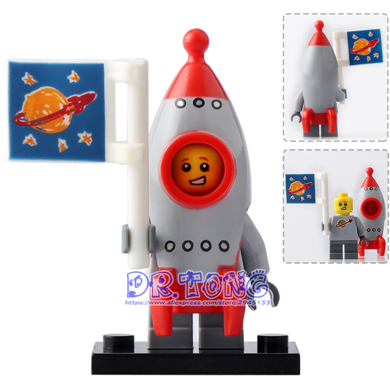 DR.TONG 20pcs/lot PG1027 Rocket Boy Inhumans Royal Family Bricks Kids DIY Toys Educational Building Blocks Child Gifts PG8061