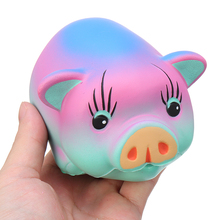 Colorful Fat Pig 12*9*5.5cm Slow Rising Soft With Packaging Decoration Children Kids Anti-Stress Novelty Gags Adult Toys цена 2017