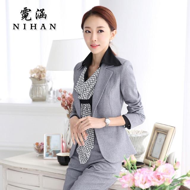 9d2eb8203ea 2015 Hitz OL female fashion wear women s suit business suit dress uniforms  overalls manager