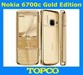 Nokia 6700 classic gold edition original desbloqueado gsm 3g mobile phone russo & árabe teclado disponível dropshipping gps 5mp