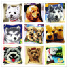 Cushion Latch Hook Kit Pillow Mat DIY Craft Dog 42CM by 42CM Cross Stitch Needlework Crocheting Cushion Embroidery