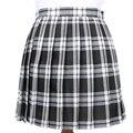 Invierno lana paraguas un line vintage tartan plaid falda plisada estudiante falda de lana faldas de las mujeres faldas