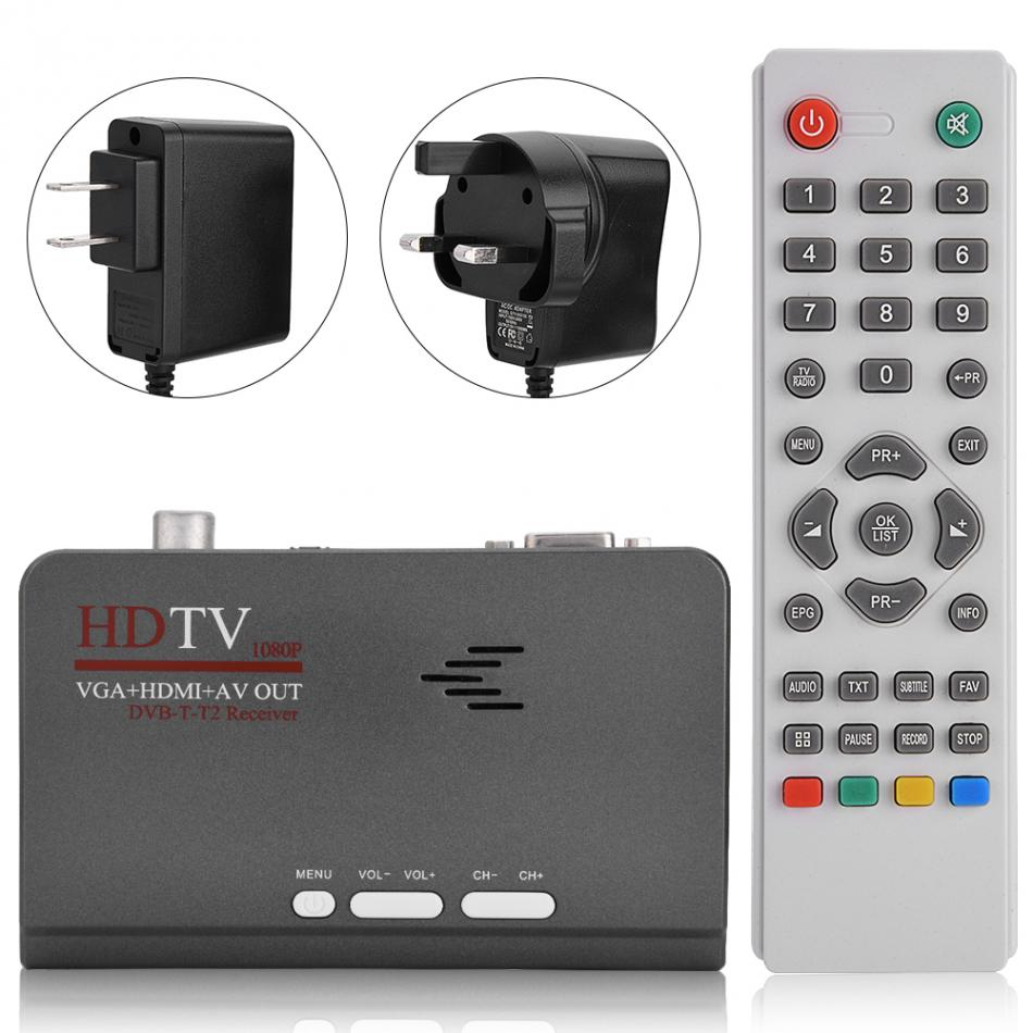 Digital 1080P HD HDMI DVB T2 TV Box Tuner Receiver Converter DVB T2 Receiver With VGA