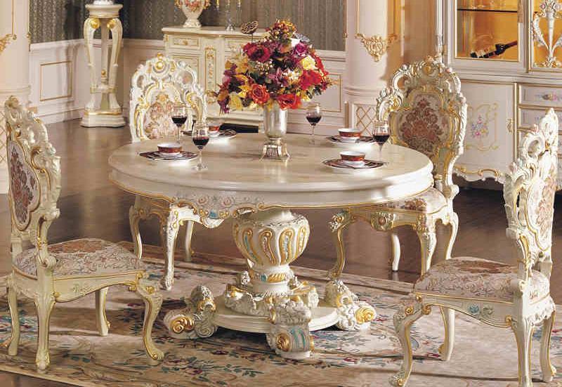 Koop 2015 franse klassieke meubelen houtsnijwerk tafeltennis italiaanse barokke - Dining barokke ...