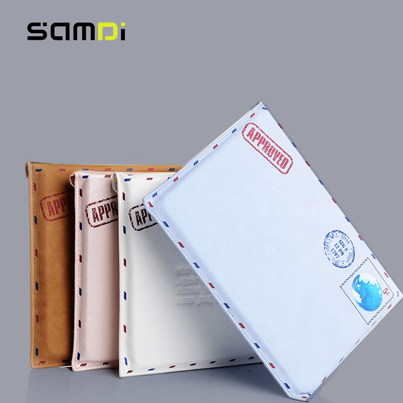 Samdi Retro style  Protective Sleeve For Apple iPad Air / pro Leather Case Cover Luxury Envelope Sleeve Bag 9.7 gp 01 retro envelope style protective pu leather inner bag pouch case for ipad mini brown