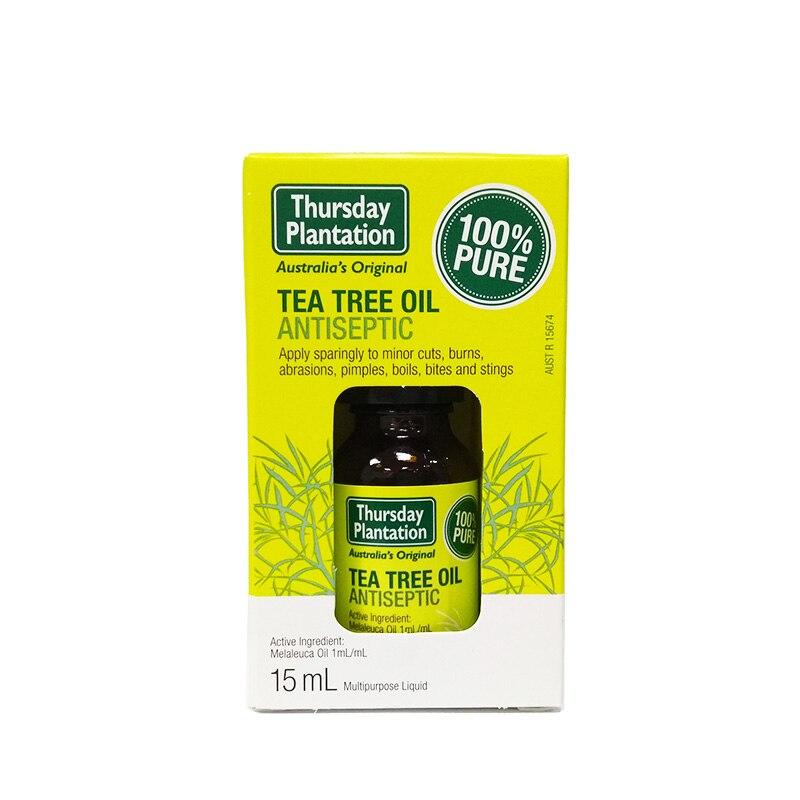 Original Australia 100%Pure Tea Tree Oil Acne Treatment Remove Shrink Pore Face Care Tea Tree Massage Oil Powerful Acne Remover