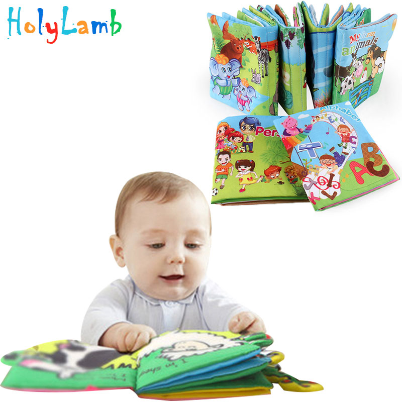 Baby Toy Infant Cloth Book Infant Educational Cognitive Learning Boys Girls Newborn Animals Kids Book Rattles  Early Learning