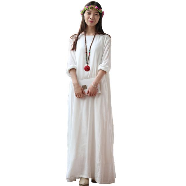White Maxi Casual Dresses